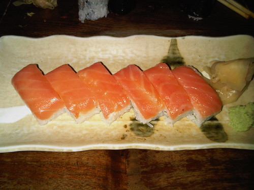 Smoked salmon and shiso