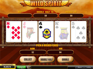 free Wild Spirit gamble bonus game