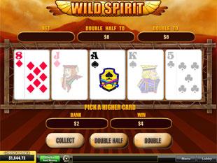 free Wild Spirit gamble bonus game