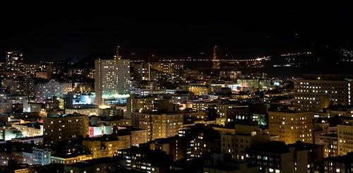 Vista notturna dall'Hotel