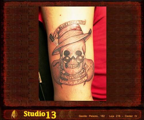 Caveira [1] - Studio 13 Tattoo Niterói