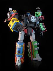 The Junction (2) (frenzy_rumble) Tags: thomas junction custom hiro autobot percy decepticon kitbash gestalt thomasthetrain articulation combiner frenzyrumble