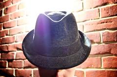 Day 148 (Marquette La) Tags: light selfportrait man male brick face hat wall skin bricks mortar fedora highlight 365days 148365