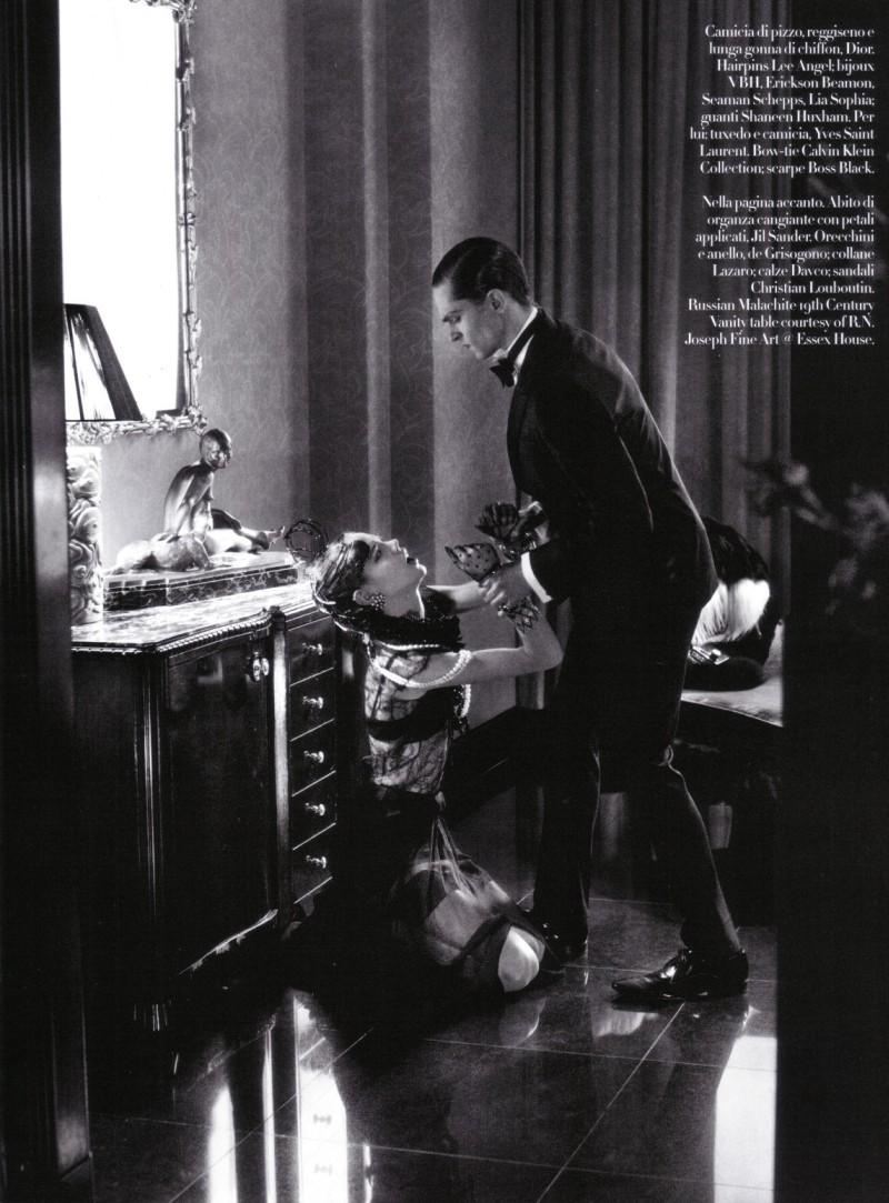 Mathias Lauridsen & Freja Beha Erichsen by Steven Meisel in Vogue Italia, March 2010
