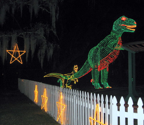 christmas decorations 2009 new orleans celebration in the oaks dinosaur lights