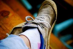 DSC_0662 (jessia22) Tags: selfportrait muddy dirtyshoes portfairyfolkfestival dunlopvolleys