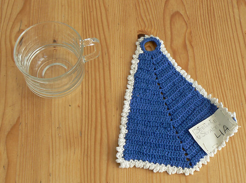 Eerste haakwerk: pannenlap / First crochet piece: potholder by evstra