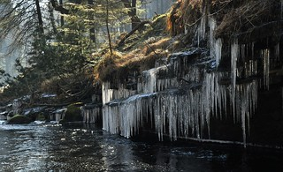 Icicles at Slippery Stones