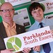 John Meehan, Parklands Programme Manager and SEEVIC student Nick unveil the Parklands Environmental Project display