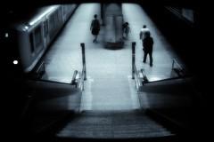 observation camera (Phunktions R!) Tags: blue people black train underground observation stair leute hamburg zug treppe hh 2009 untergrund berwachung