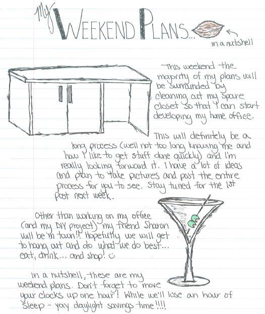 weekend plans 3.11