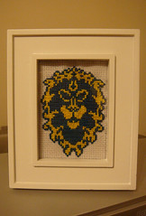 Alliance Insignia Cross Stitch (Frankengeek) Tags: wow computer crossstitch pattern videogame etsy horde alliance
