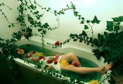 In Bloom (SamanthaPott) Tags: life flowers summer green girl modern garden bathroom death domestic teenager bathtub conceptual ophelia inbloom