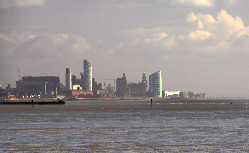 Liverpool Skyline, from Crosby, a different angle.