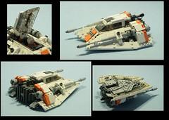 snowspeeder (psiaki) Tags: star lego rebellion wars hoth moc snowspeeder towhook t47 airspeeder