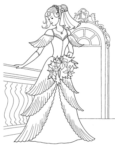 hristina s blog princess in her wedding dress coloring page Punk Hairstyles princess in her wedding dress coloring page coloring book cinderella wedding