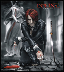 Criss Angel [ Infernal Knight ] ( Omar Rodriguez V.) Tags: red moon paris sexy male men art true leather lady angel night photomanipulation dark hair naked logo him death photo dance blood twilight artwork model king kill darkness body spears magic ghost gothic hilton evil hunk prince lord queen illusion fantasy killer midnight sword devil knight warrior trick phantom imagemanipulation edition magical britney epic hotness mystic edit damned heartagram majesty gladiator corel infernal illusionist criss hisinfernalmajesty ecilpse omarrodriguezv infernalknight