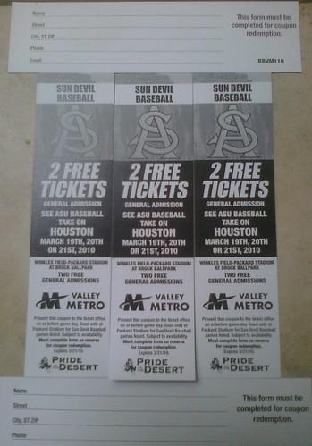 ASU baseball vauchers