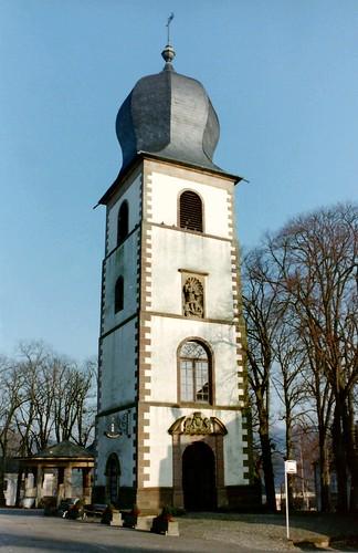 Sankt-Michael Turm in Mersch (Luxemburg)
