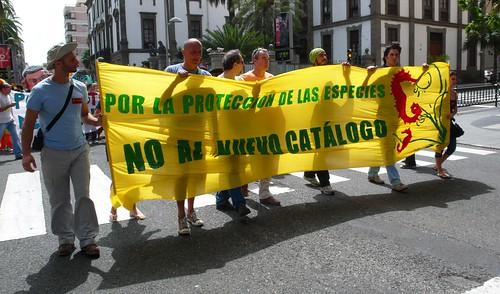 Manifestación por la Biodiversidad Canaria. 20 de marzo 2010. Las Palmas de Gran Canaria. 42