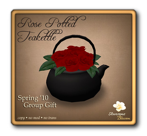 :: Awesome Blossom :: Rose Potted Teakettle