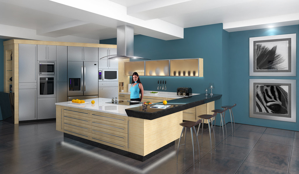 Modern Kitchen - Renderings with New Version of Vray ...