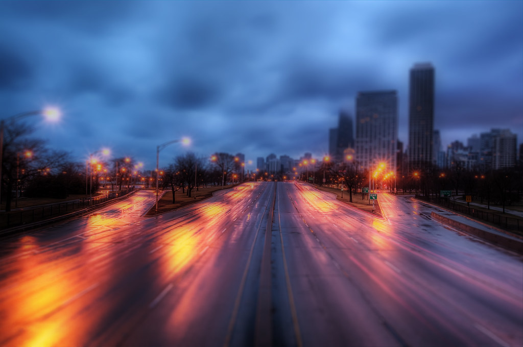 Lake Shore Drive Tilt Shift.
