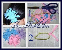 Passo a passo da xuxinha de nós (Iris Florarte) Tags: artesanato fuxico cabelo malha elastico acessório passoapasso xuxinha