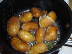 Fingerling potatoes in butter