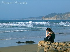 The Journey Within ( Kaaviyam Photography) Tags: california music cliff usa bird art girl photography rocks solitude waves sandiego peaceful tranquility flute m serene lonely lajollashores seashore randomvisions blueclouds lajollacoves bluewaves thejourneywithin kaaviyam kaaviyamphotography  nearlajollacoves myalltimefavmusic