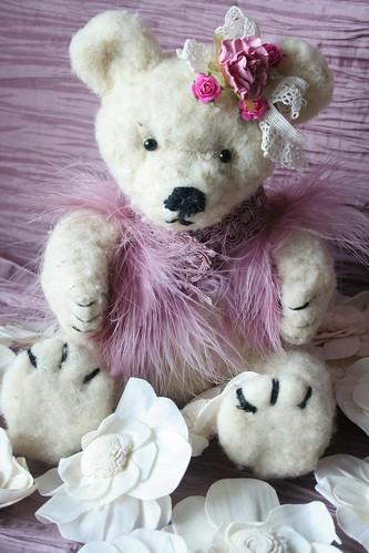 Mon premier ours en laine cardée