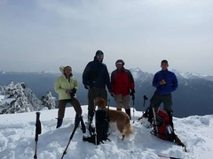 Driver, Jim, Gus, Barry and David on summit of West Peak