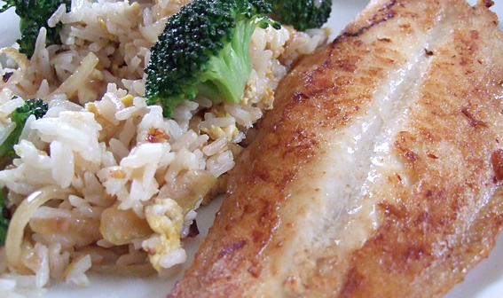 DotD: Panfried pangasius with fried rice