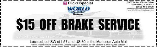 World Hyundai Matteson - Car Service Coupon - $15 OFF Brake Service by World Hyundai Chicago