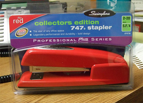 office space stapler. from Office Space , we are