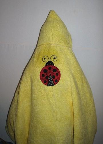 Ladybug hooded bath towel