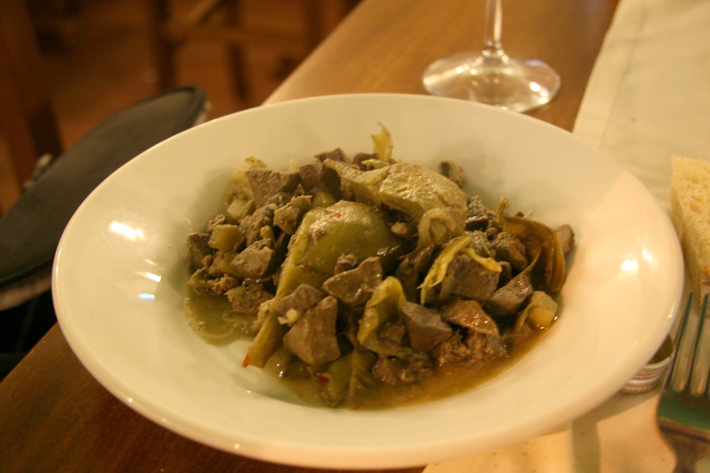 Coratella con Carciofi