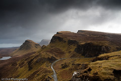 Bioda Buidhe and Cleat (Ord Photography) Tags: mountains skye scotland cloudy cleat trotternish quiraing biodabuidhe lochcleat