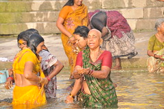 Spiritual cleansing in the Ganges River Varanasi India (orclimber) Tags: city people india water river boat indian religion ceremony holy sacred varanasi ritual spiritual hindu pilgrimage ganga ganges pradesh uttar hiduism spritiual