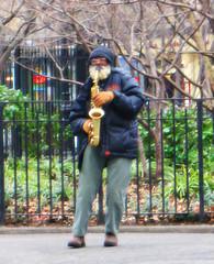 Sax Man (Goggla) Tags: park new york nyc musician square beard village east busker logan sax saxophone tompkins giuseppi
