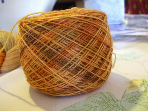 "Woolhunter's Everday Sock Yarn ""Butternut Squash"""