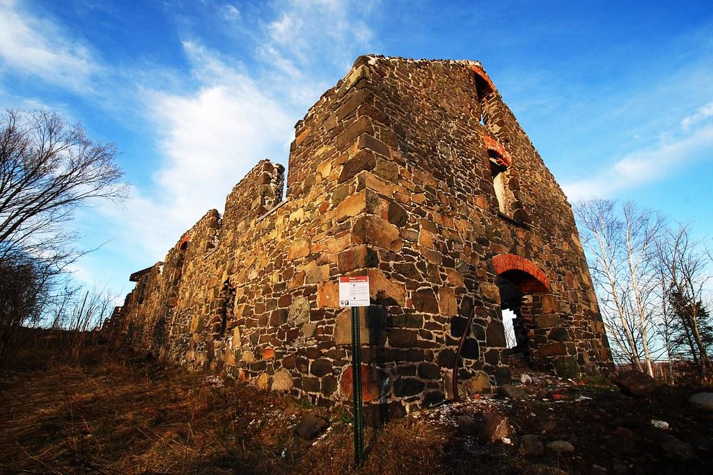 A huge stone ruin.