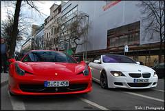 Ferrari 458 Italia (ThomvdN) Tags: red 6 berlin nikon italia ferrari m enzo bmw april 1855 modena supercar vr maranello 2010 cabriolet d60 mattwhite 458