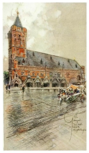 018- Ayuntamiento de Nieuport en Flandes-Vanished towers and chimes of Flanders 1916- Edwards George Wharton