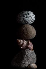 Dark balance (stachelig) Tags: rock stones stack steine creativecommons balance stapel ruhe tranquililty