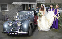 1949 Triumph Roadster 2000 in use at daughter's wedding (Rich Saunders) Tags: classic 1948 car shiny 2000 showroom triumph jersey restored vehicle concours forties 1949 concourse 1947 1946 roadster bergerac paintwork respray triumphroadster standardvanguard