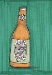 Sparhawk Beer (Homemade Pop) Tags: art artwork artist folkart outsiderart folk originalart contemporary drawings pop popart homemade marker prints prismacolor foodart doodling 5x7 magicmarker foodpackaging pilotpen cheapart retroart brightart originalillustration quirkyart