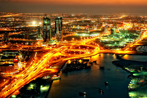 Manama at Night - Bahrain