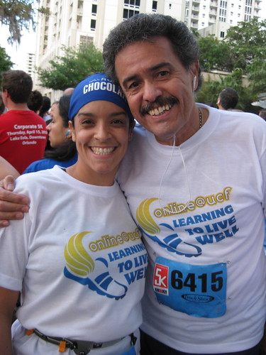 Dad and I at start