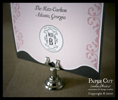 Pink & Grey French Artisan Wedding Stationery Suite